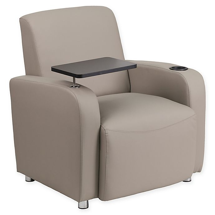 Alternate image 1 for Flash Furniture 35-Inch Guest Leather Chair in Grey