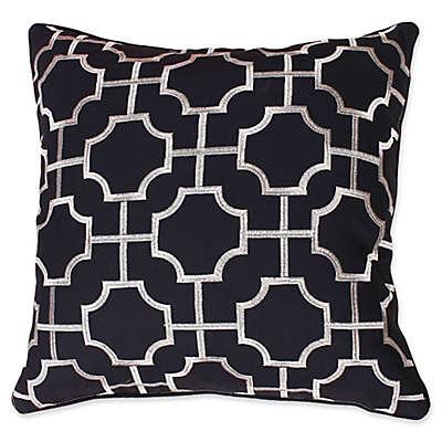 Thro by Mario Lorenz Tonianne Embroidered Geo Throw Pillow
