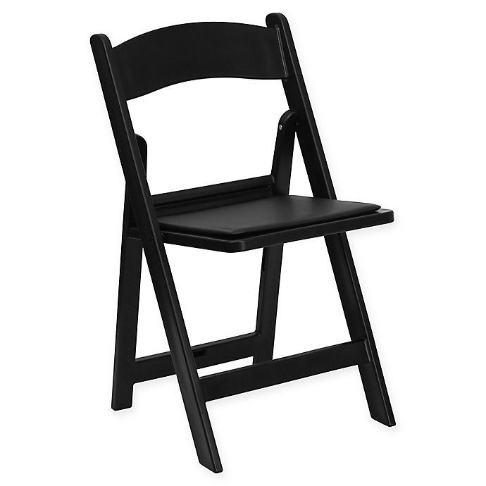 Alternate image 1 for Flash Furniture Hercules Resin Folding Chair in Black