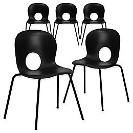 Flash Furniture Plastic Cafe-Style Stack Chairs (Set of 5)