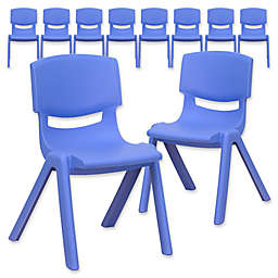 Flash Furniture 22-Inch Plastic Stack Chair (Set of 10)