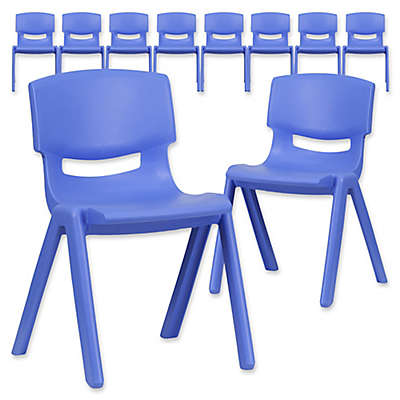 Flash Furniture Plastic Stacking Chair (Set of 10)