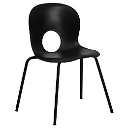 Flash Furniture Plastic Stack Chair with Round Cutout