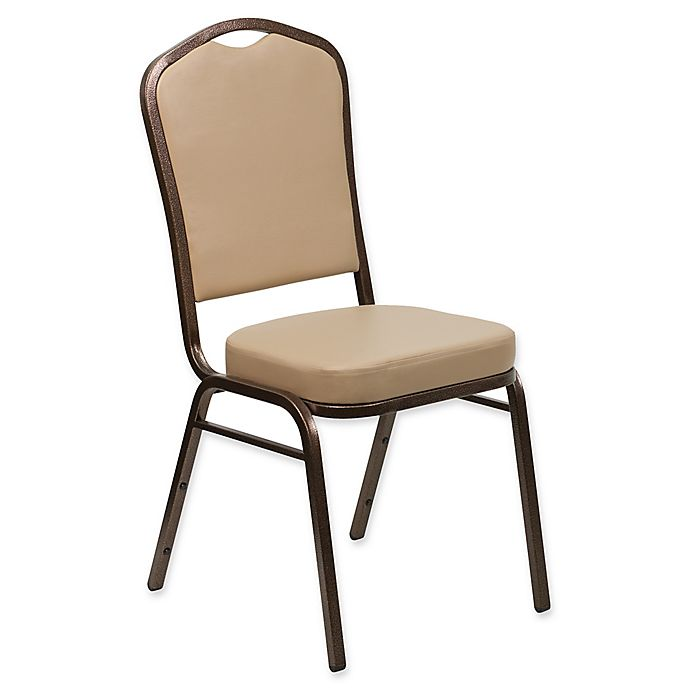 Alternate image 1 for Flash Furniture Hercules 38-Inch Tall Banquet Chair in Brown Vinyl