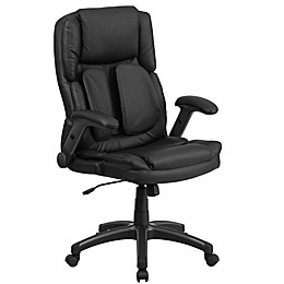 Flash Furniture 44-Inch - 47-Inch High Back Leather Executive Chair in Black