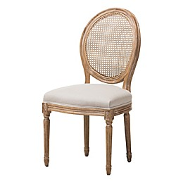Baxton Studio Adelia Dining Side Chair in Beige