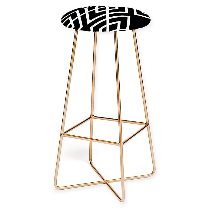 Swell Deny Designs Inbetween Bar Stool In Black Gold Bed Bath Unemploymentrelief Wooden Chair Designs For Living Room Unemploymentrelieforg