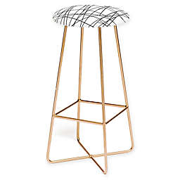 Deny Designs Architecture Bar Stool in Black/Gold
