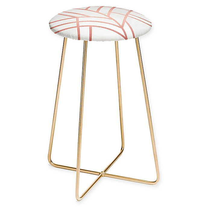 Alternate image 1 for Deny Designs Elisabeth Fredriksson Art Deco Counter Stool in Pink