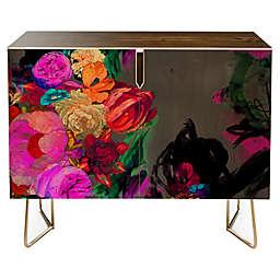 Deny Designs Biljana Kroll Floral Storm Credenza in Red
