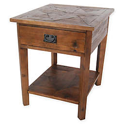Revive Reclaimed Wood End Table with Natural Finish