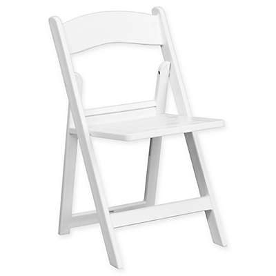 Flash Furniture Hercules Resin Folding Chairs in White