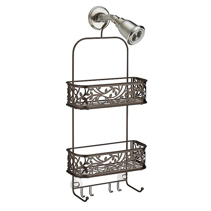 Alternate image 1 for iDesign® Vine Shower Caddy in Bronze