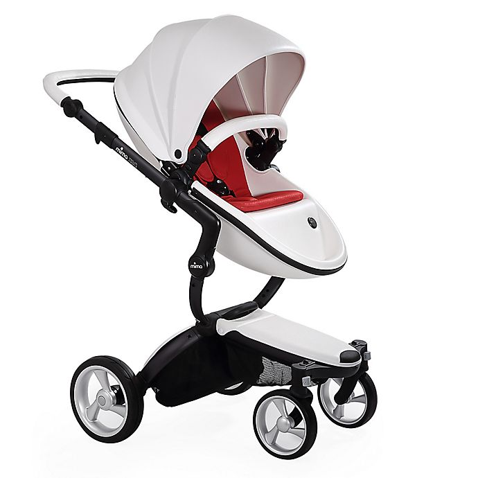 Mima Xari Stroller in White/Red | buybuy BABY