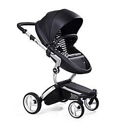 Mima Xari Aluminum Chassis Stroller in Black/Black & White Stripes