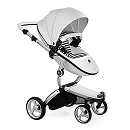 Mima Xari Aluminum Chassis Stroller in White/Black Stripes