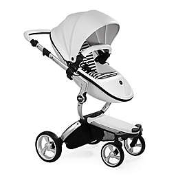 Mima Xari Aluminum Chassis Stroller in White/Black Stripes