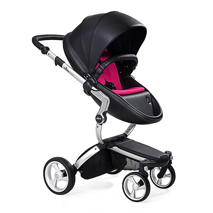 Alternate image 1 for Mima Xari Aluminum Chassis Stroller in Black/Magenta