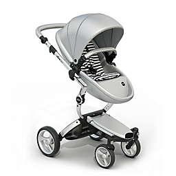 Mima Xari Aluminum Chassis Stroller in Argento/Black & White Stripes