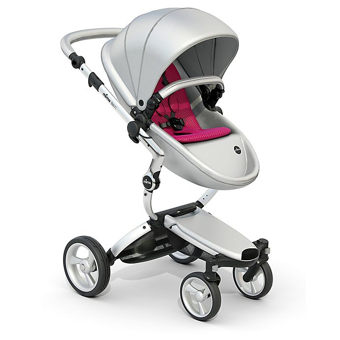 Alternate image 1 for Mima Xari Aluminum Chassis Stroller in Argento/Magenta