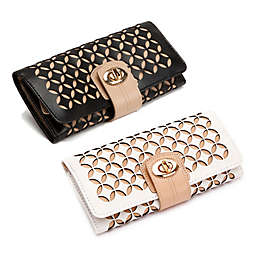 Wolf Designs Chloe Leather Jewelry Roll