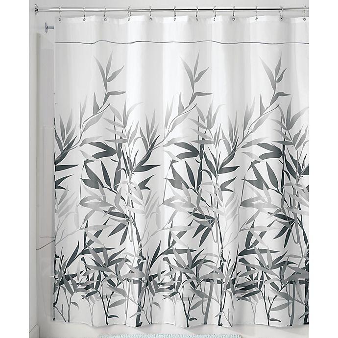 Alternate image 1 for iDesign® Anzu 72-Inch x 72-Inch Shower Curtain in Grey