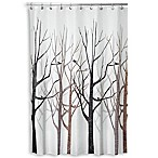 iDesign® Forest 72-Inch x 72-Inch Shower Curtain in Grey/Black