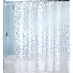 IDesignreg Pebblz PEVA Shower Curtain In White
