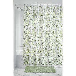 iDesign® Vine PEVA Shower Curtain in Green/White
