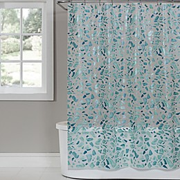 Saturday Knight Sea Glass 70-Inch x 72-Inch PEVA Shower Curtain in White