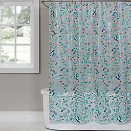 SKL Home Sea Glass 70-Inch x 72-Inch PEVA Shower Curtain in White