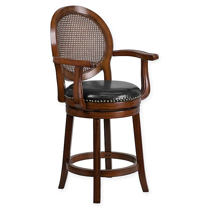 competitive price f5a6c 416a2 Flash Furniture Wood Bar and Counter Stools with Arms | Bed ...