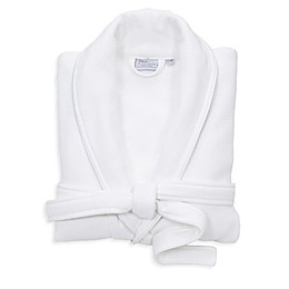 Linum Home Textiles Waffle Terry Turkish Cotton Unisex Bathrobe in White