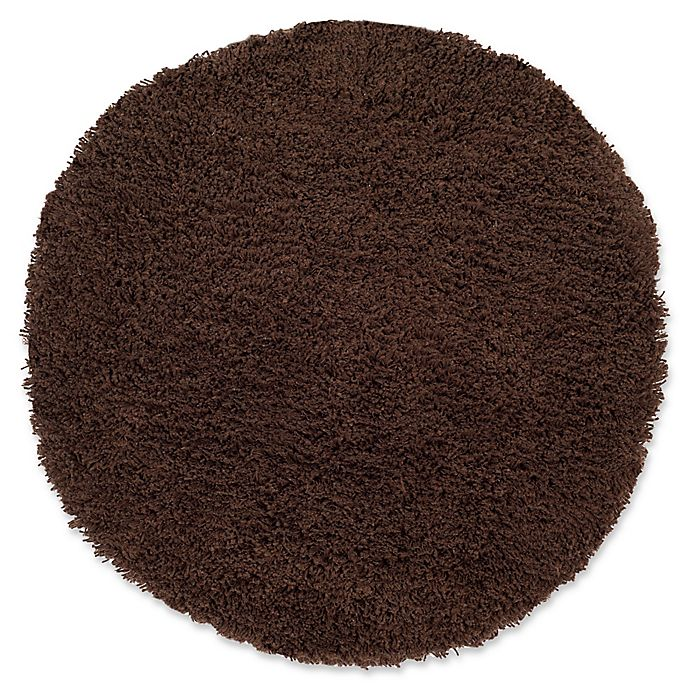 Alternate image 1 for Safavieh Classic Shag 4-Foot x 4-Foot Napa Rug in Chocolate