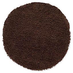 Safavieh Classic Shag 4-Foot x 4-Foot Napa Rug in Chocolate