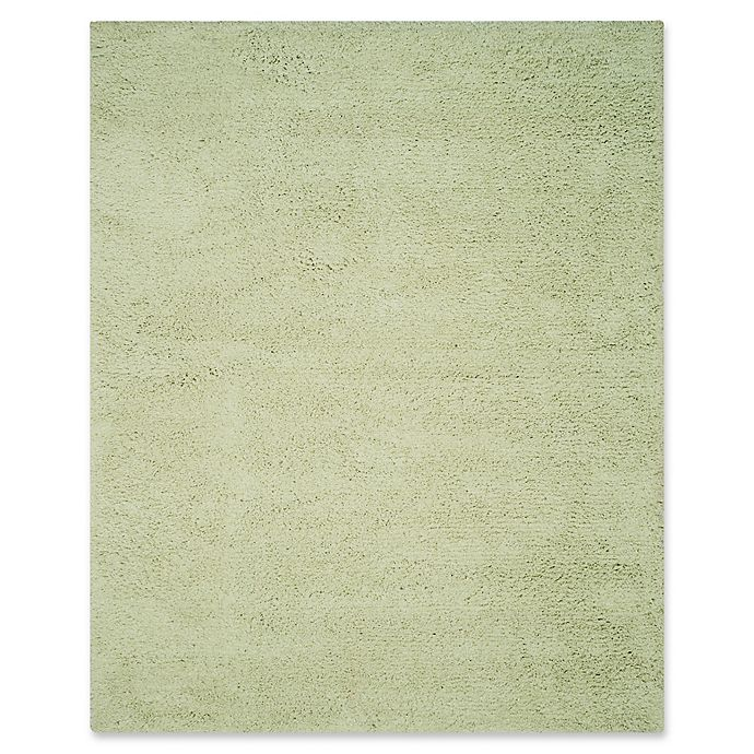 Alternate image 1 for Safavieh Classic Shag 7-Foot 6-Inch x 9-Foot 6-Inch Napa Rug in Lime