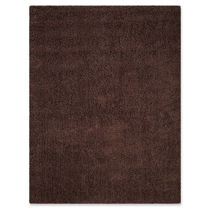 Alternate image 1 for Safavieh Classic Shag 8-Foot 6-Inch x 11-Foot 6-Inch Napa Rug in Chocolate