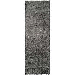 Safavieh California Shag 2-Foot 3-Inch x 7-Foot Irvine Rug in Dark Grey