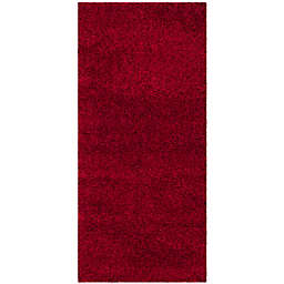 Safavieh California Shag 2-Foot 3-Inch x 7-Foot Irvine Rug in Red