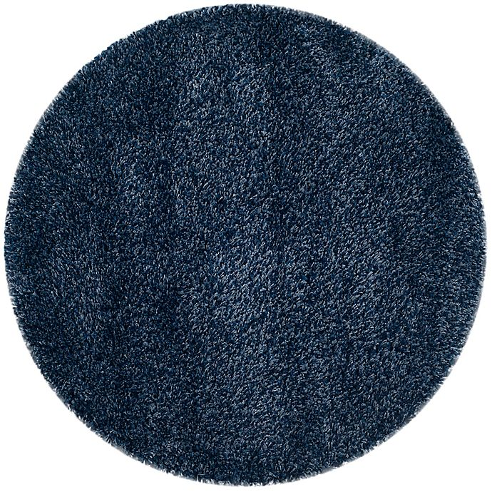 Alternate image 1 for Safavieh California Shag 4-Foot x 4-Foot Irvine Rug in Navy