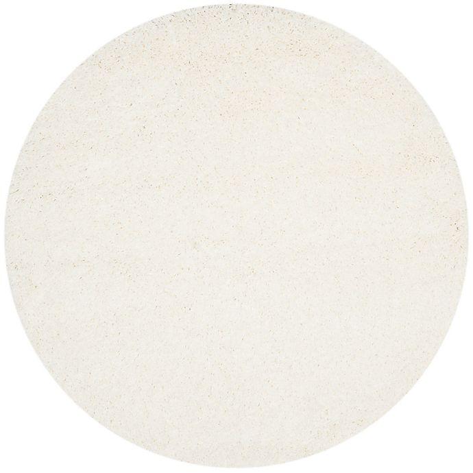 Alternate image 1 for Safavieh California Shag 4-Foot x 4-Foot Irvine Rug in White