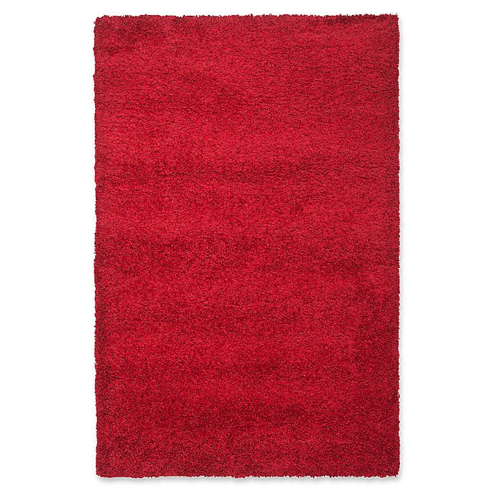 Alternate image 1 for Safavieh California Shag 5-Foot 3-Inch x 7-Foot 6-Inch Irvine Rug in Red