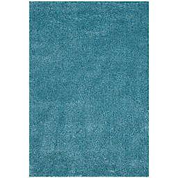 Safavieh California Shag 6-Foot 7-Inch x 9-Foot 6-Inch Irvine Rug in Turquoise
