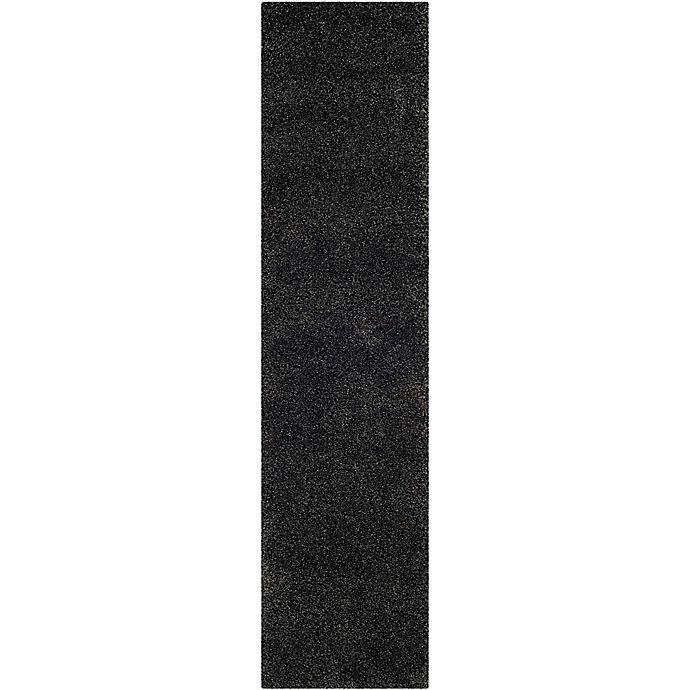 Alternate image 1 for Safavieh Milan Shag 2-Foot x 8-Foot Sienna Rug in Dark Grey
