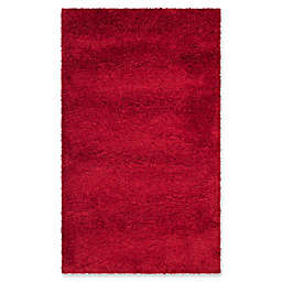 Safavieh Milan Shag 3-Foot x 5-Foot Sienna Rug in Red