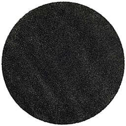 Safavieh Milan Shag 5-Foot 1-Inch x 5-Foot 1-Inch Sienna Rug in Dark Grey