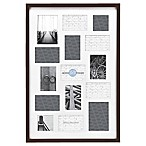 Gallery 15-Opening 20-Inch x 30-Inch Wood Collage Frame in Espresso