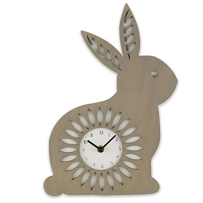 Alternate image 1 for Sterling & Noble™ 8.25-Inch Bunny Wall Clock