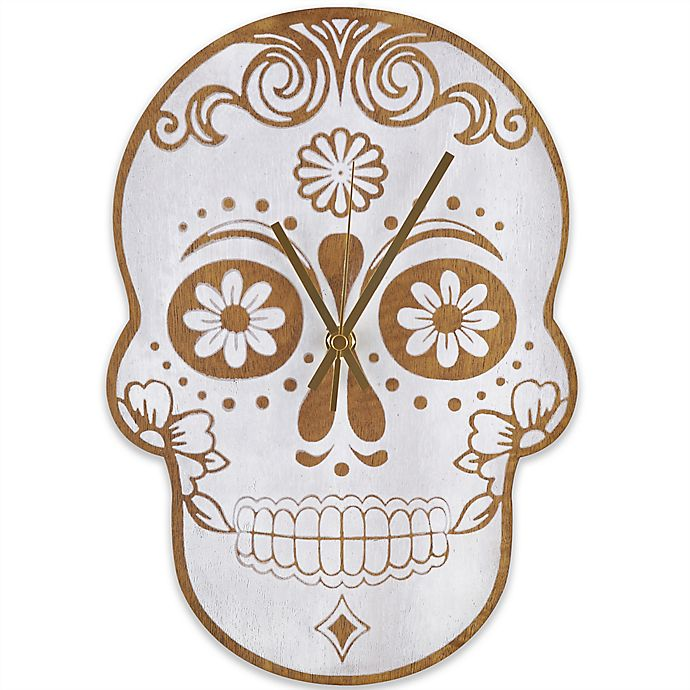 Alternate image 1 for Sterling & Noble Skull Wall Clock