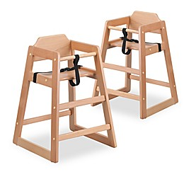 Flash Furniture Baby High Chairs in Natural (Set of 2)